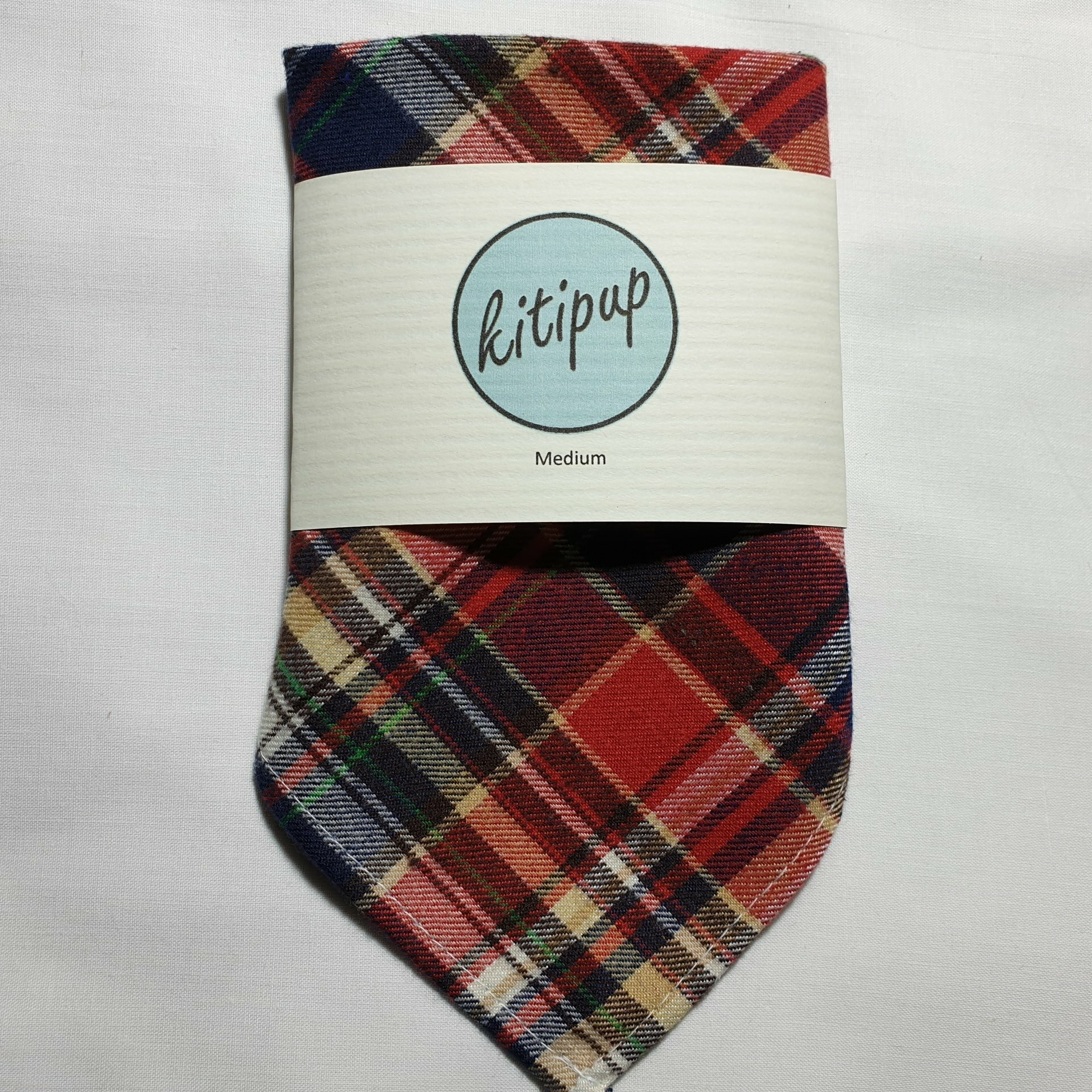 Red Tartan Bandana – Medium